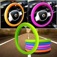 Black Soft Silicone Steering Wheel Cover Shell Skidproof Odorless Eco Friendly