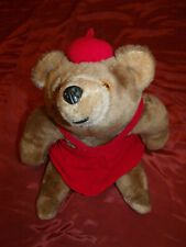 "Rare Korea made, Rushton Company Teddy Bear 17"" Vintage Stuffed Plush dressed"