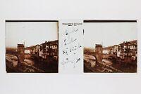 Sospel Puente Alpes-Maritimes Francia Foto Placa De Cristal Estéreo Vintage 1930