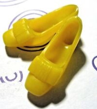 Vintage 1960's Barbie/Francie Yellow Squishy Loafer Bow Front  Japan ~HTF