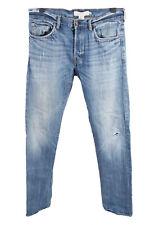 Vintage H&M L.O.G.G. High Waist Unisex Denim Jeans Size W34 L35 Blue - J4493
