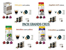 64 Capsules Café PACK GRANDS CRUS Compatibles Nespresso.