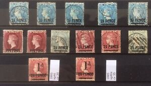 St Vincent. 1882-5 Nice Range Of Oprints Mint And Used. Cv 120 In 2017