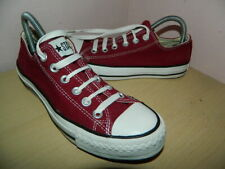 unisex Converse All Star burgundy textile lace up shoes trainers uk 5 eur 37.5