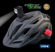 Opticfire® Nucleus CREE XM-L2 LED USB cycle helmet light bike head lights set