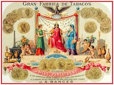"20x30""Decoration Poster.Interior design art.Cigar label Partagas.Cuba.6323"