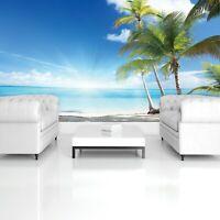Vlies Fototapete Strand Meer Palmen Karibik Natur Landschaft Wohnzimmer XXL 🌴