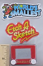 World's Smallest ETCH A SKETCH Drawing Toy Ohio Art Magic Screen Miniature Doll