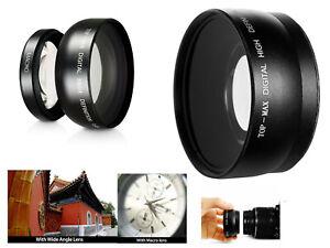 MACRO Close Up & WIDE Angle Lens for Panasonic V760 V770 VX870 WX970 Camcorder