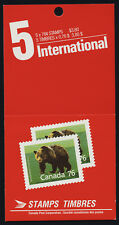 Canada 1178b Booklet BK105c - Priority Post MNH Grizzly Bear