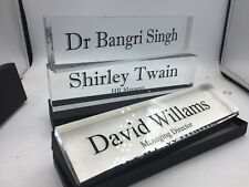 Acrylic Desk Name Block