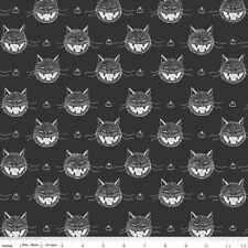 ~1/2 Yard Scaredy Cat On Black, Halloween By Riley Blake 100% Cotton Fabric