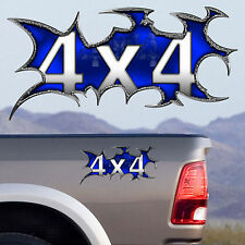 Set of two 4x4 FX4 Offroad Cool Blue Truck Decal Sticker F150 Chevy Dodge Ram