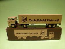 LION CAR 58+36 DAF 2800 TRUCK - MEUBELFABRIEK - 1:50 - RARE SELTEN - GOOD IN BOX