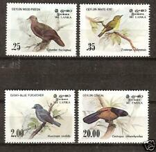 SRI LANKA CEYLON # 691-4 MNH BIRDS