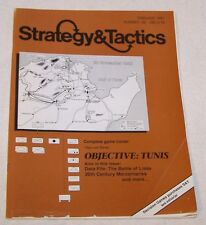 "VG #140 Strategy & Tactics Mag + Wargame ""Objective: Tunis"" Battles 4 N. Africa"