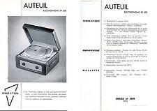 Publicité électrophone tourne-disques EP 630 phono Image & Son Auteuil