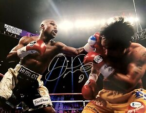 🔥Floyd Mayweather Autographed/Signed 11X14 vs Pacquiao Photo- Beckett PSA