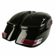Universal RS Motorcycle Hard Saddlebags Saddle Bags for Cruisers Metric Bikes