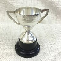 1972 Vintage Trophy Cup Silver Plated Mounted Tom Boy Fortwilliam Fort William