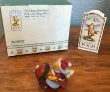 Midwest of Cannon Falls Classic Pooh in Plane Porcelain Hinged Box Phb Christmas