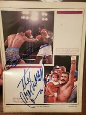 Autographed Hector Camacho & boza edwards Boxing magazine photo