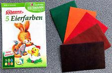 Eierfarbe HEITMANN Eifarbe Eier Farbe # 5 Farben # Färbetabletten Färbeplättchen