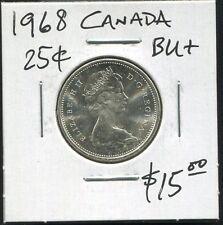 CANADA - FANTASTIC HISTORICAL QE II SILVER 25 CENTS, 1968