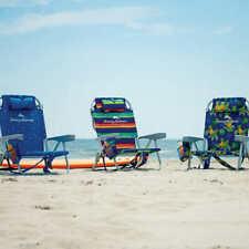 Tommy Bahama silla de playa reclinable con nevera y bolsillos de almacenaje