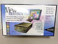 NEW Focus Enhancements TView Micro SXGA PC to TV Video Converter  Windows or MAC