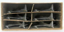 Vintage Dinky 733 70F - Set Of Six Shooting Star Jet Fighters - Silver