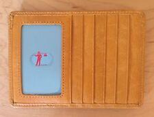 Nwt Hobo International Euro Slide Leather Card Wallet, Saffron Yellow