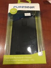 New Puregear Black Case with Kickstand + Holster For LG G3 Black