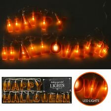 LED Happy Halloween Letter String Lights Rope Battery Indoor Home Party Décor