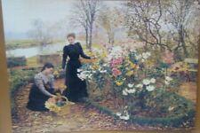 Victorian Trading Co In the Garden 2 Women Picking Flowers Unframed Print
