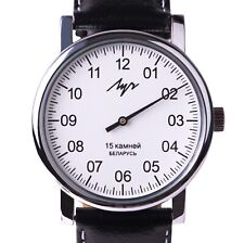 One Hand Luch Mechanical Wristwatch Men's Casual White + Free Nato Strap. 7760