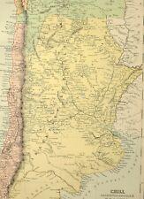 1882 ANTIQUE MAP CHILI ARGENTINE REPUBLIC BOLIVIA TUCUMAN SANTIAGO BUENOS AYRES