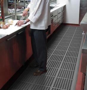 Black Anti Slip Rubber Workstation Kitchen Bar Mats Heavy Duty Secure Flooring
