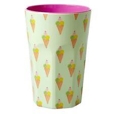 Riz Mélamine Tall Latte Cup in ice cream Print