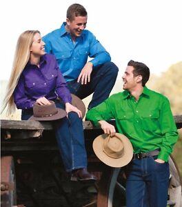 Country Wear Pilbara | Mens - Ladies - Kids | Closed Front Work Shirt Long short