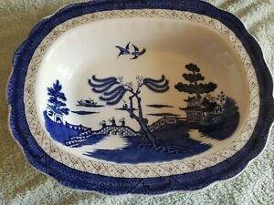 BEAUTIFUL ROYAL DOULTON BOOTHS REAL OLD  WILLOW DISH