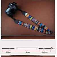 Retro Vintage style stripe camera shoulder neck strap for Nikon Canon Petax 7