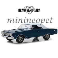 GREENLIGHT 19059 GRAVEYARD CARZ 1967 PLYMOUTH BELVEDERE GTX 1/18 DIECAST BLUE