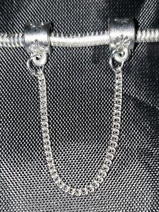 🙂 NEW EUROPEAN PANDORA BRACELET SAFETY CHAIN