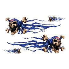 1 Sheet Cool Stylish Skull Eagle Flame Sticker Motorcycle ATV Racing Bike Decal
