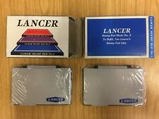 """2 x Blue Lancer Stamp Pads For Rubber Stamps Size 5x3"""""""