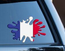 Bandera de Francia Splat Gracioso Decal Sticker Coche, Furgoneta, Ordenador Portátil, puertas de la Copa del Mundo 2018