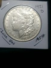 1921 D BU GEM MORGAN SILVER DOLLAR UNC MS++ GENUINE U.S. MINT RARE COIN 9137