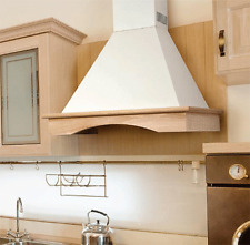 """New listing Italian Nt Air Range Hood Wall Mounted Wood 36"""" Chr-115 Country Style"""