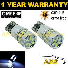2x W5W T10 501 Errore Canbus libero BIANCO 18 SMD LED Side Repeater BULBS sr103101